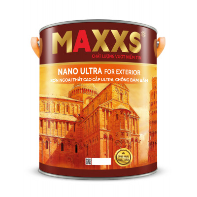 SƠN NGOẠI THẤT CAO CẤP ULTRA, CHỐNG BÁM BẨN- MAXXS NANO ULTRA FOR EXTERIOR.