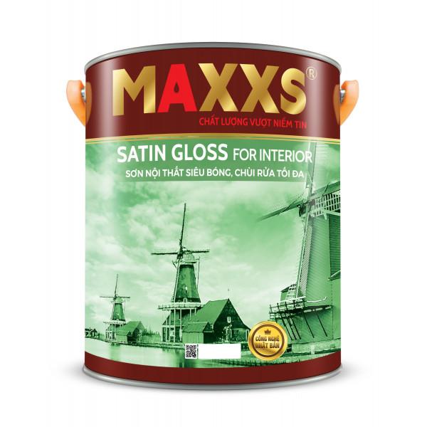 SƠN NỘI THẤT SIÊU BÓNG, CHÙI RỬA TỐI ĐA - MAXXS SATIN GLOSS FOR INTERIOR.